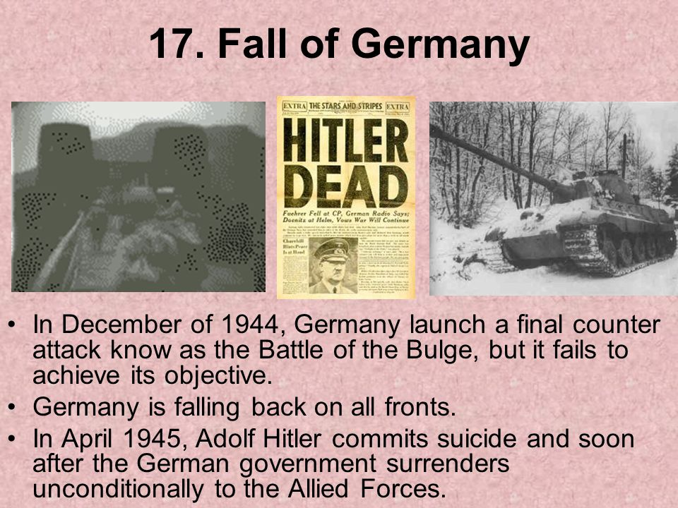 17. Fall of Germany