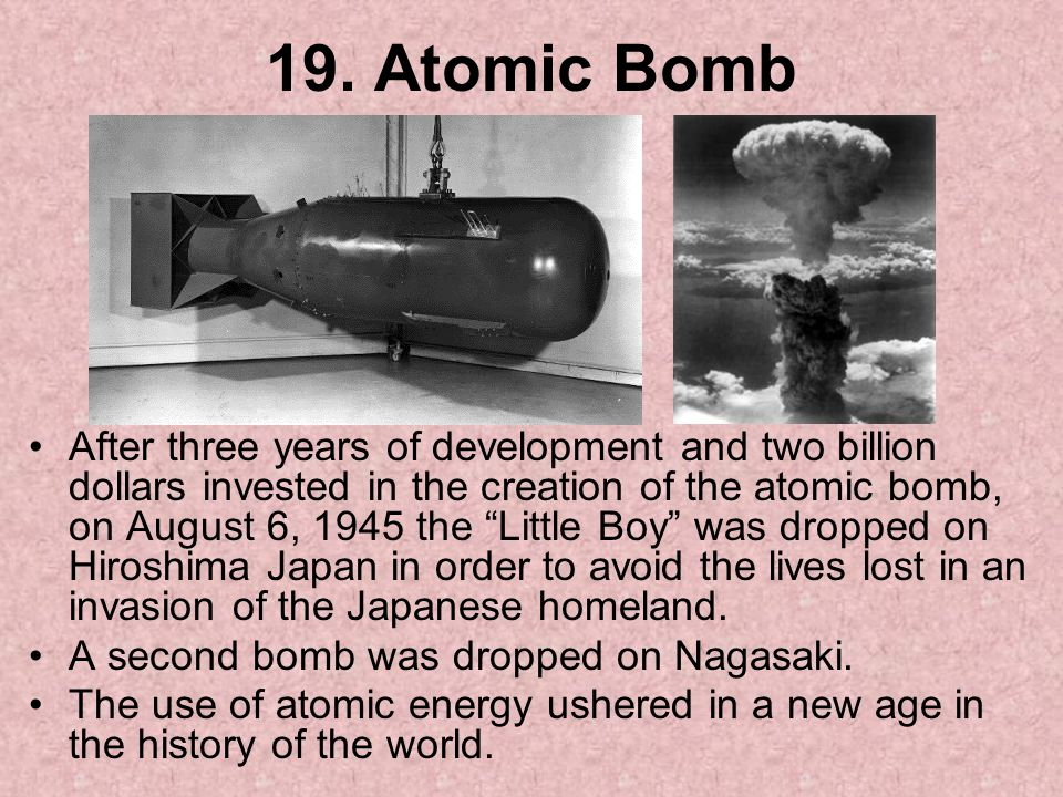 19. Atomic Bomb