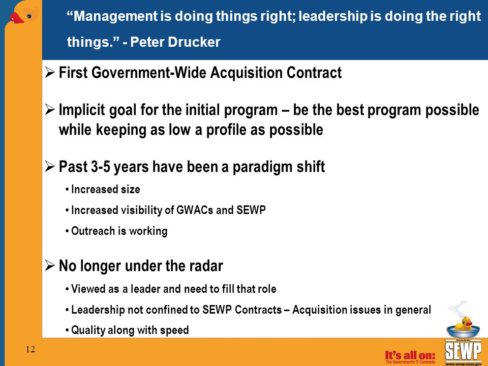 First Government-Wide Acquisition Contract