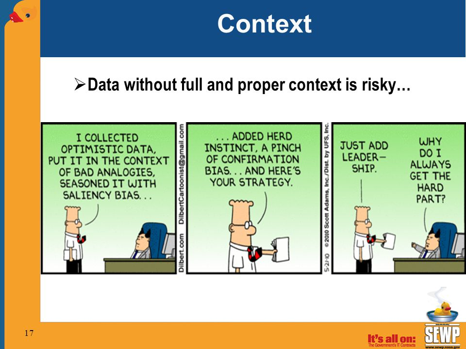 Context Data without full and proper context is risky…