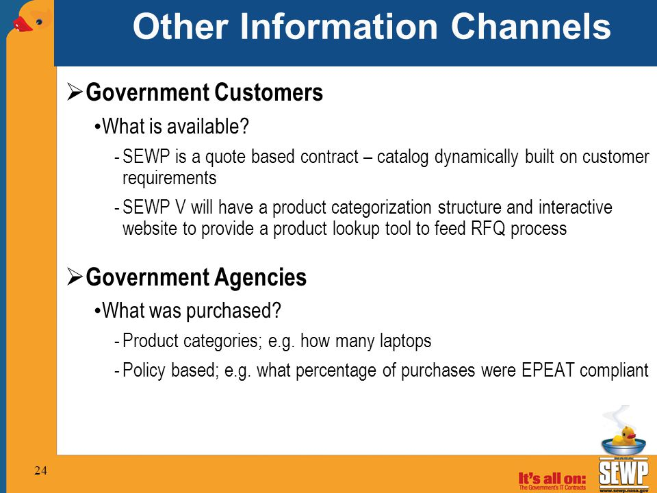 Other Information Channels