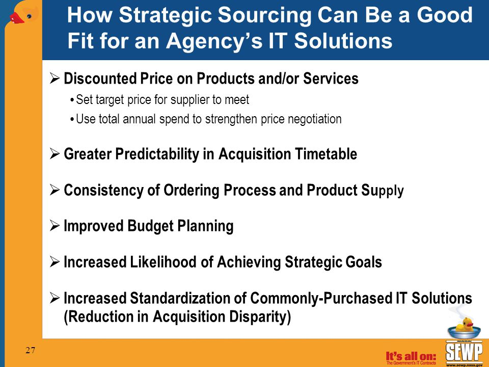 How Strategic Sourcing Can Be a Good Fit for an Agency's IT Solutions