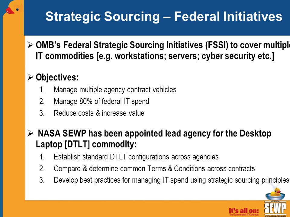 Strategic Sourcing – Federal Initiatives