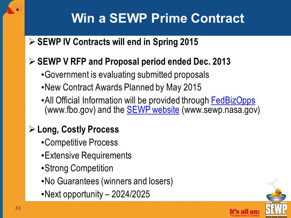 Win a SEWP Prime Contract