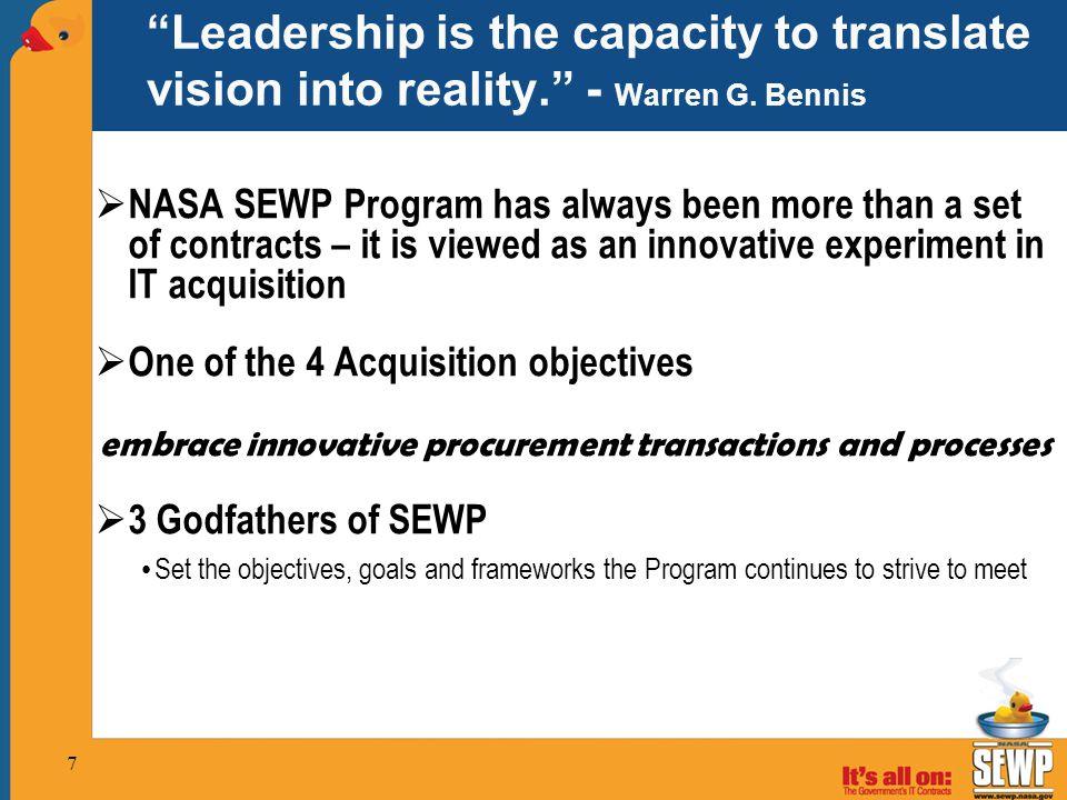 embrace innovative procurement transactions and processes