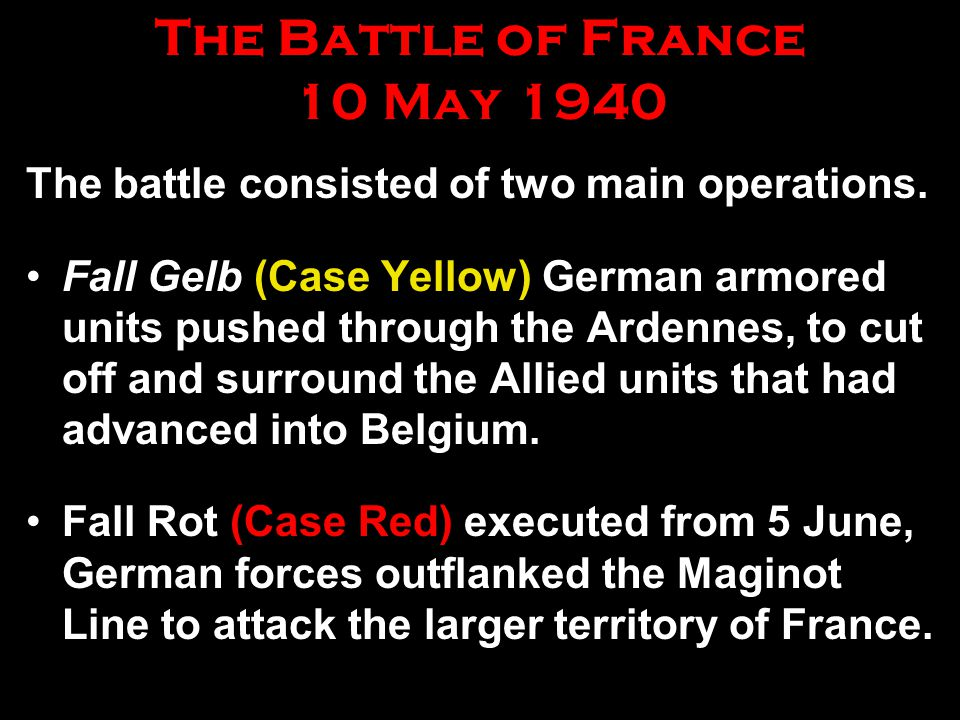 The Battle of France 10 May 1940