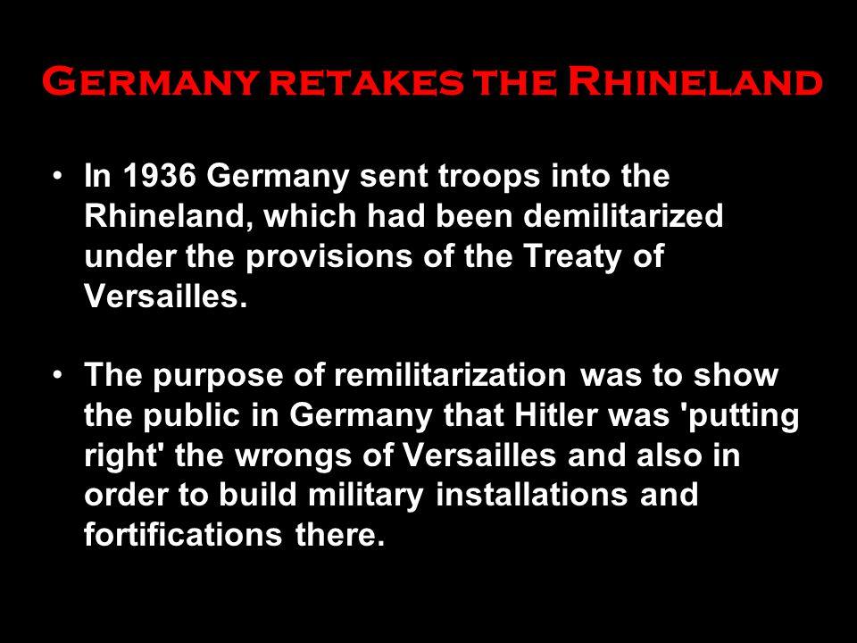 Germany retakes the Rhineland
