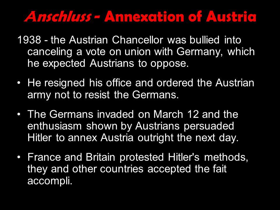 Anschluss - Annexation of Austria