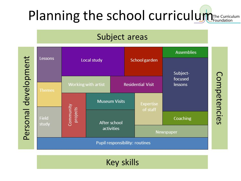 Planning the school curriculum
