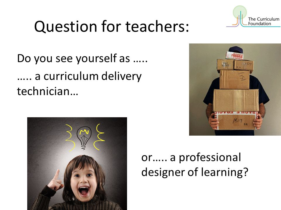 Question for teachers: