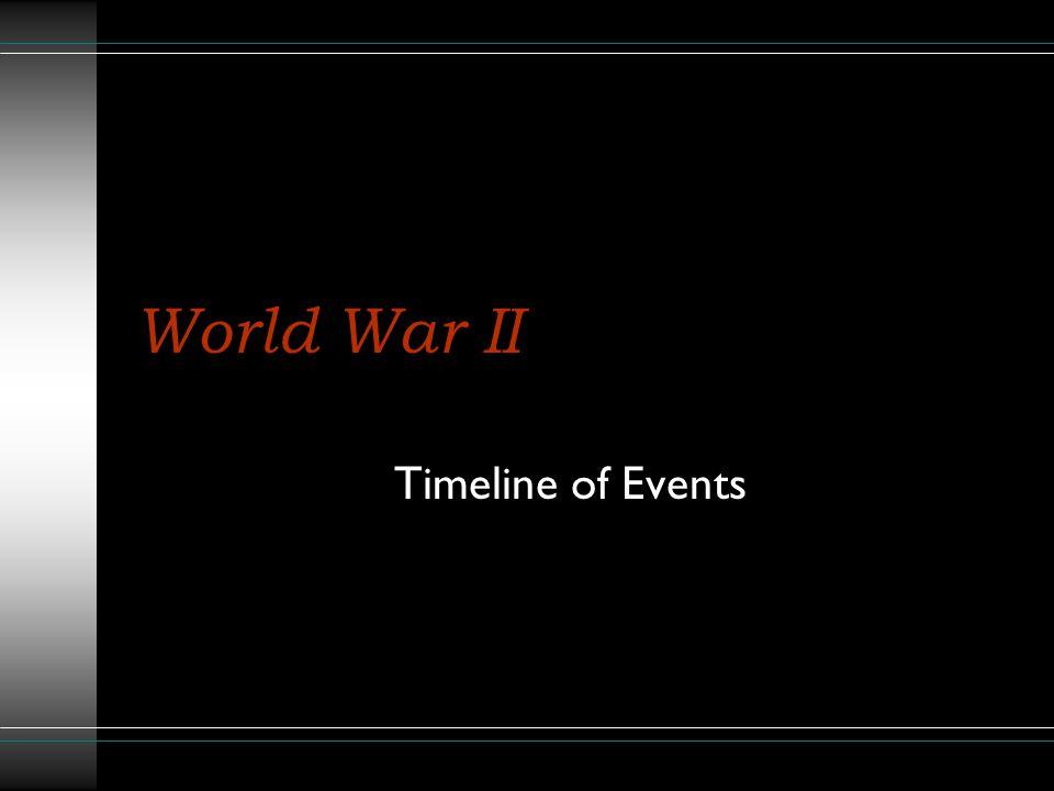 World War II Timeline of Events