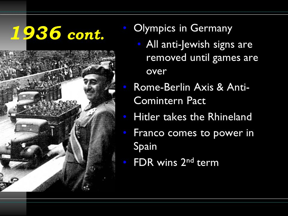 1936 cont. Olympics in Germany