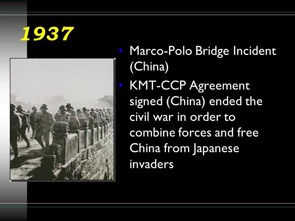 1937 Marco-Polo Bridge Incident (China)