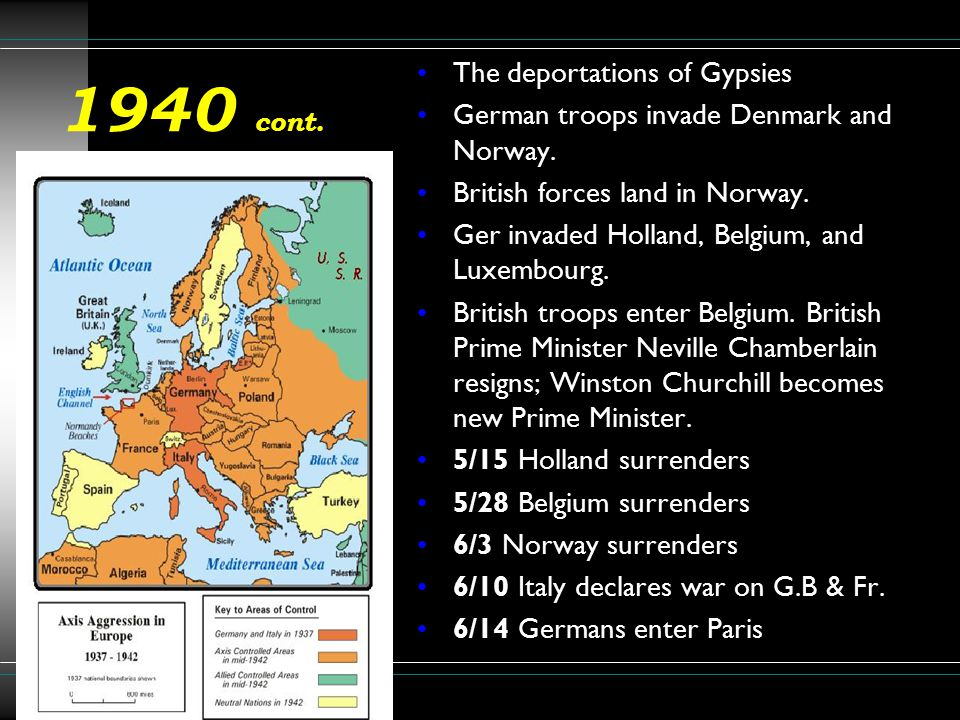 1940 cont. The deportations of Gypsies