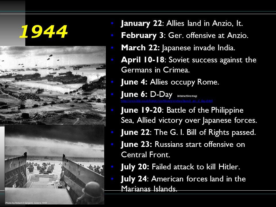 1944 January 22: Allies land in Anzio, It.