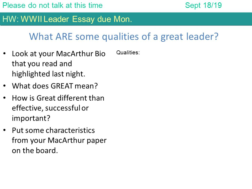 who is a good leader essay