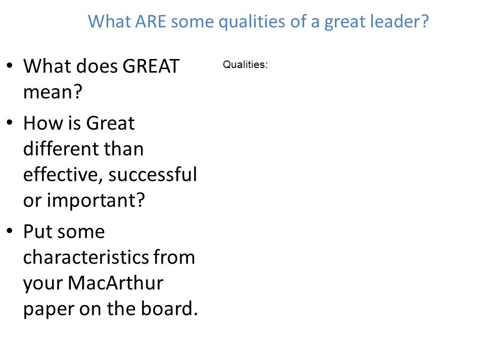 Essays on qualities of a good leaders