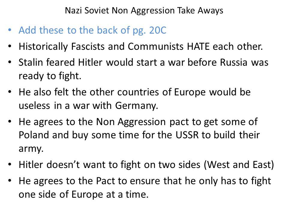 Nazi Soviet Non Aggression Take Aways