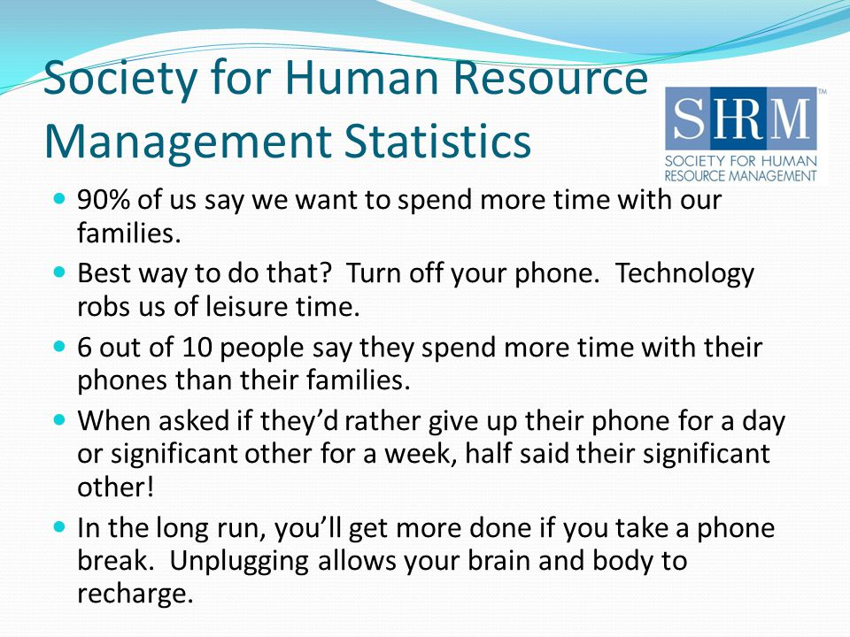Society for Human Resource Management Statistics