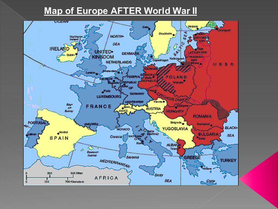 Map of Europe AFTER World War II