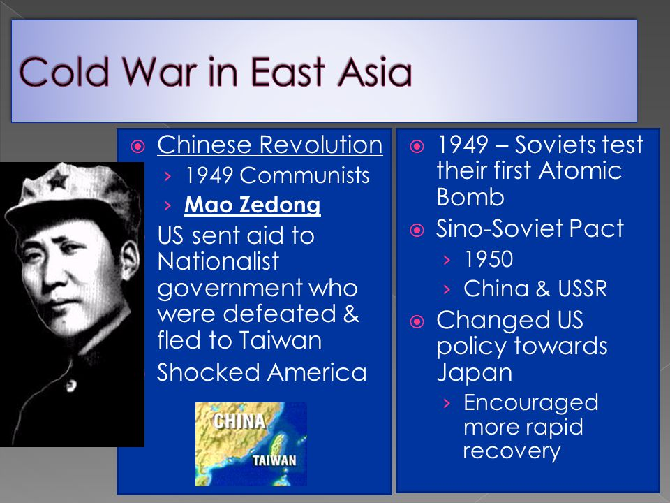 Cold War in East Asia Chinese Revolution