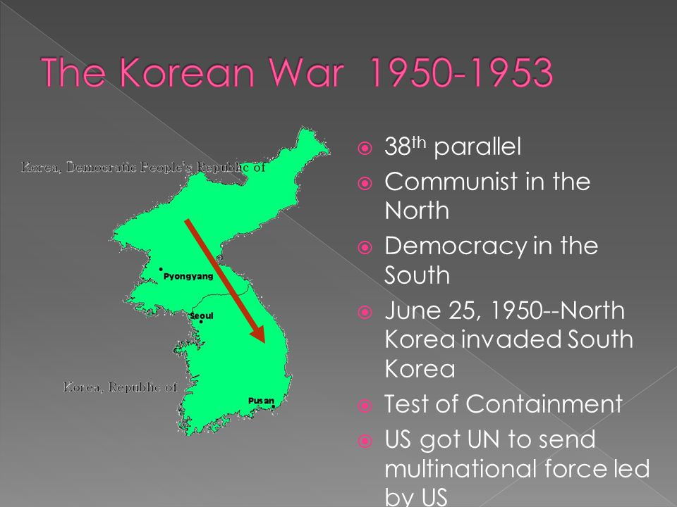 The Korean War 1950-1953 38th parallel Communist in the North