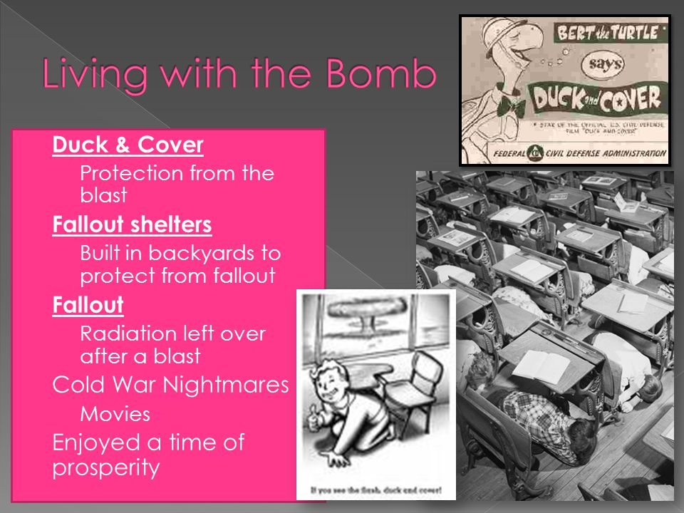Living with the Bomb Duck & Cover Fallout shelters Fallout