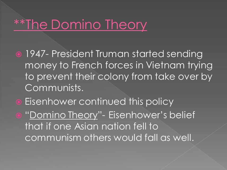 **The Domino Theory