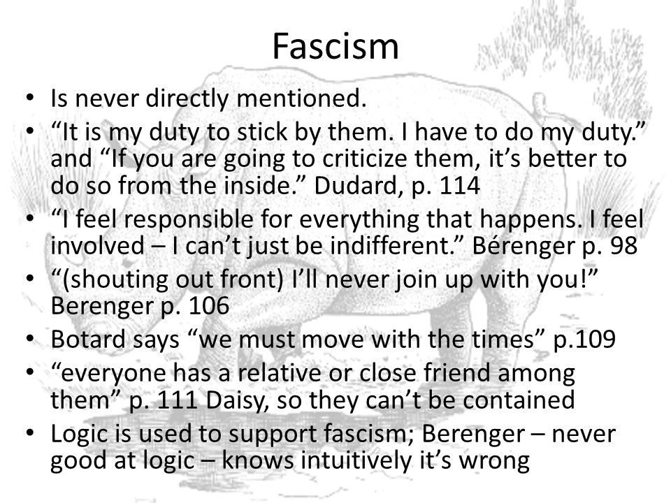 Fascism Is never directly mentioned.