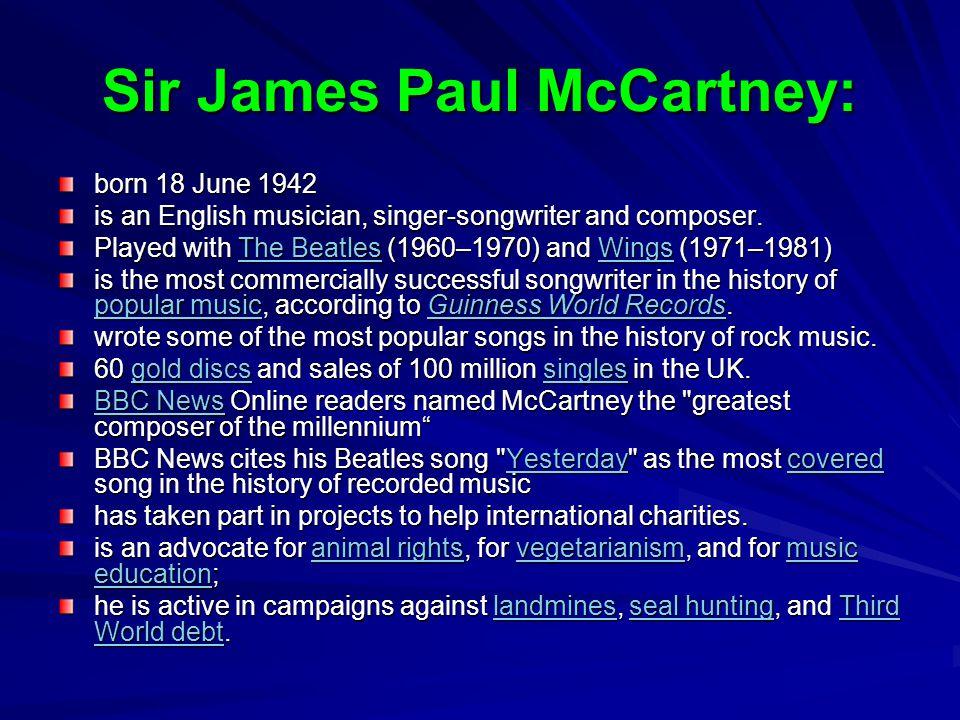 Sir James Paul McCartney: