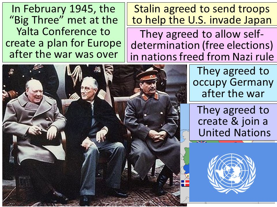 Stalin agreed to send troops to help the U.S. invade Japan