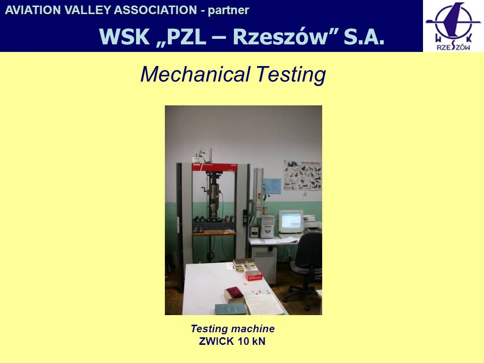 Testing machine ZWICK 10 kN