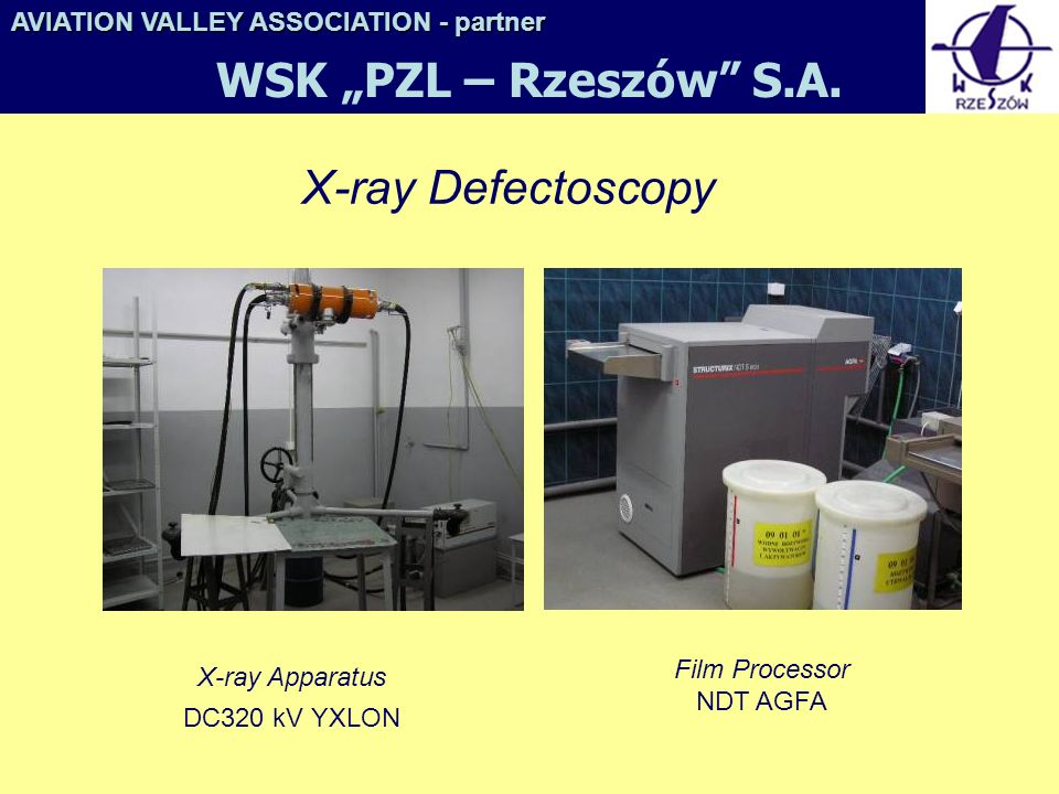 "WSK ""PZL – Rzeszów S.A. X-ray Defectoscopy"