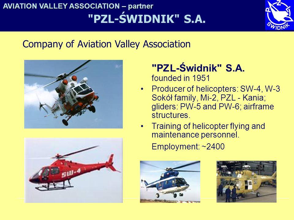 PZL-ŚWIDNIK S.A. PZL-Świdnik S.A. founded in 1951