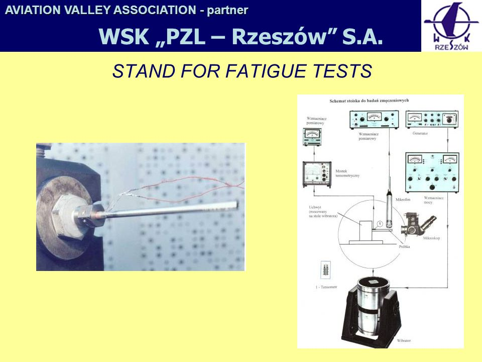 STAND FOR FATIGUE TESTS