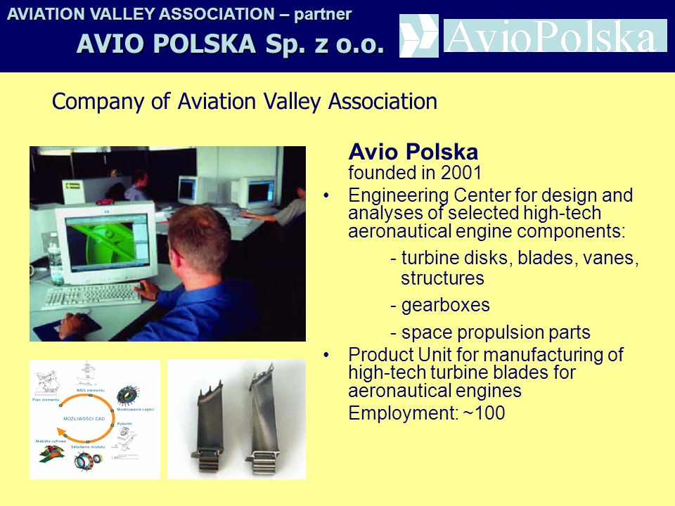 AVIO POLSKA Sp. z o.o. Company of Aviation Valley Association