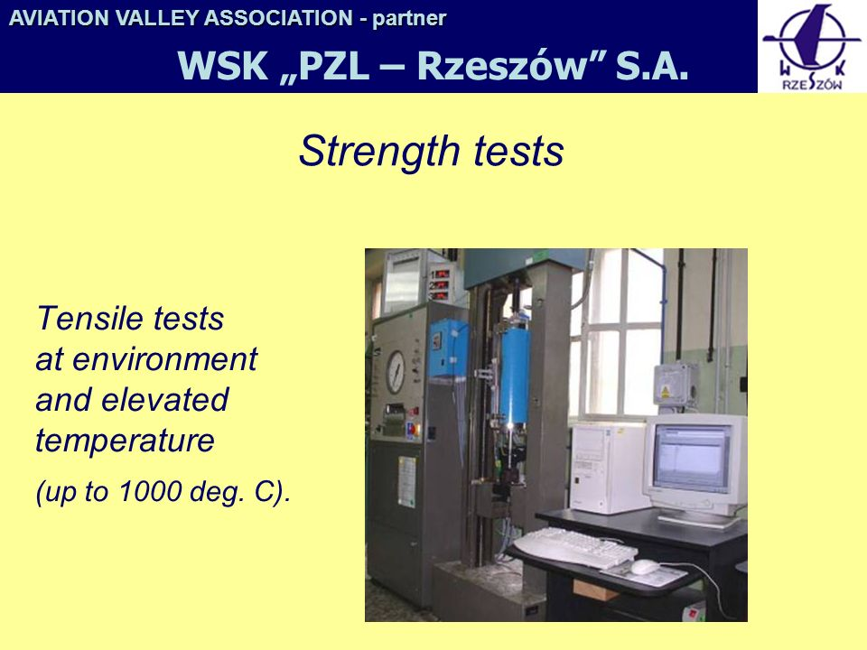 "Strength tests WSK ""PZL – Rzeszów S.A."
