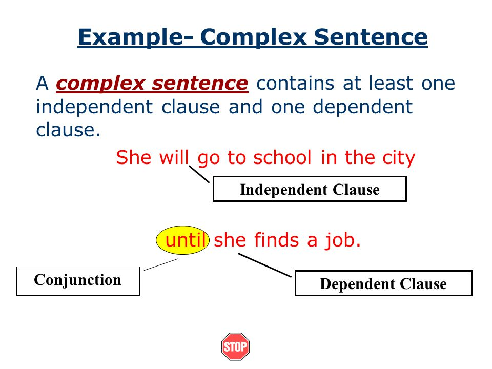 Example- Complex Sentence