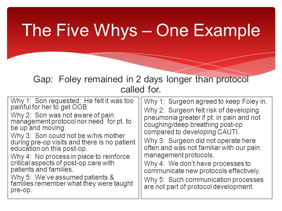 The Five Whys – One Example