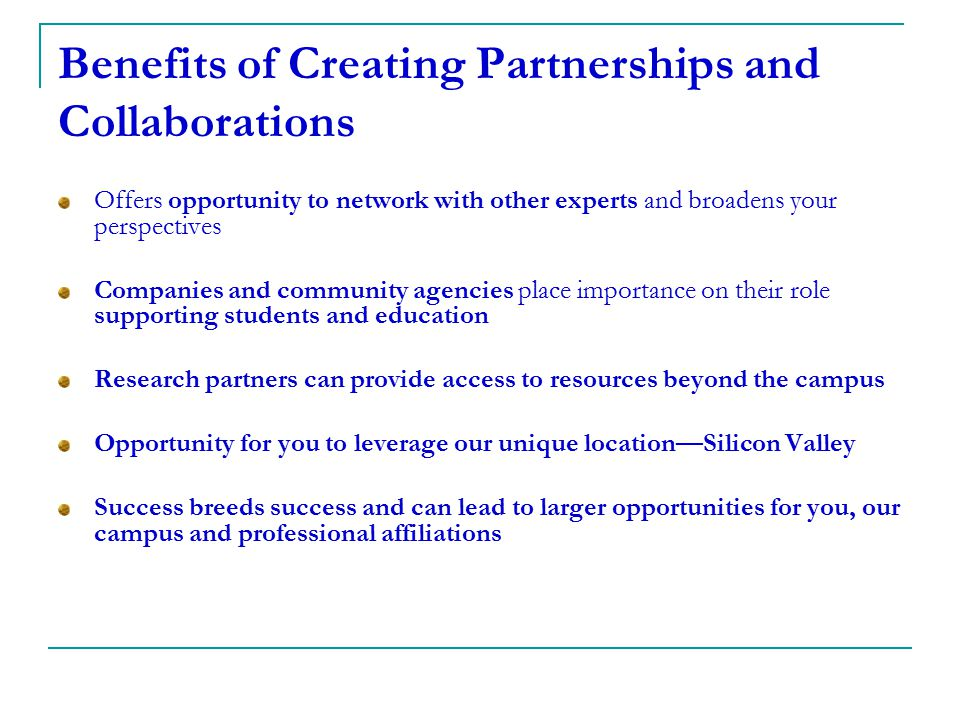 Benefits of Creating Partnerships and Collaborations