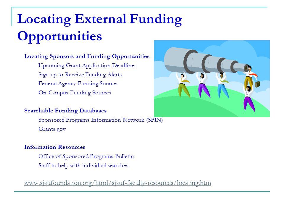 Locating External Funding Opportunities