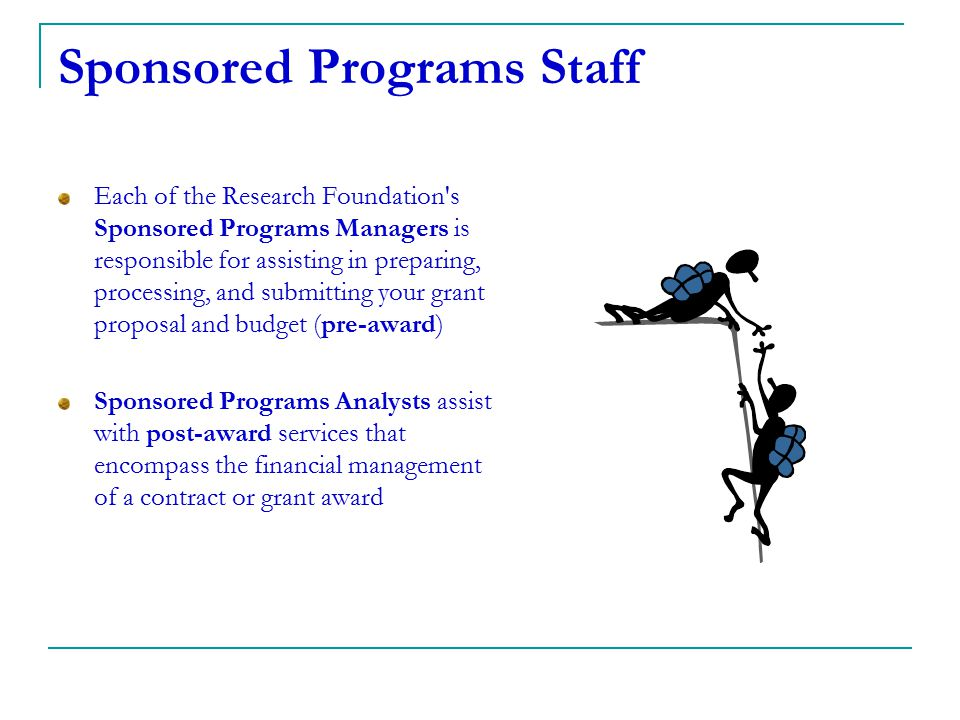 Sponsored Programs Staff
