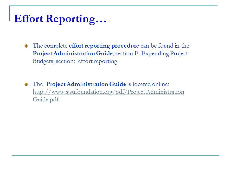 Effort Reporting…