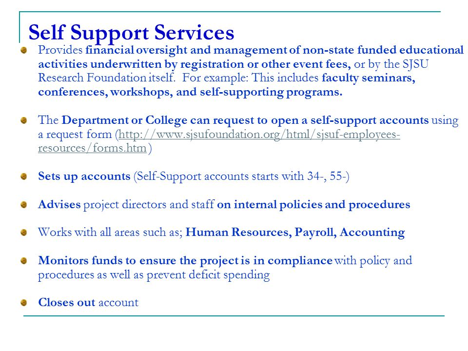 Self Support Services