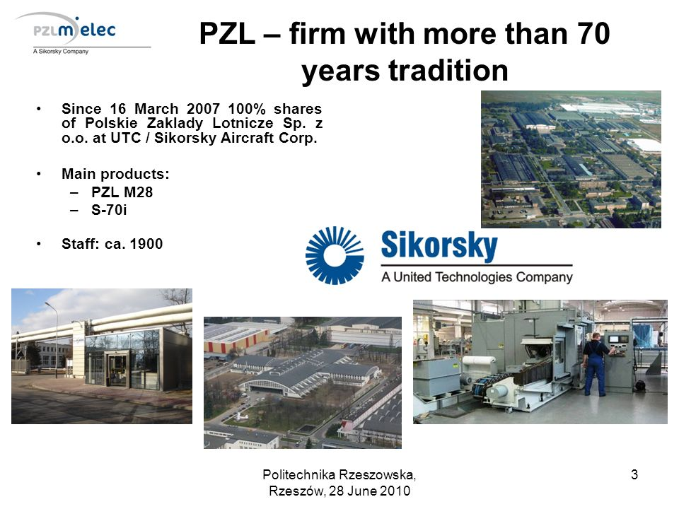 PZL – firm with more than 70 years tradition