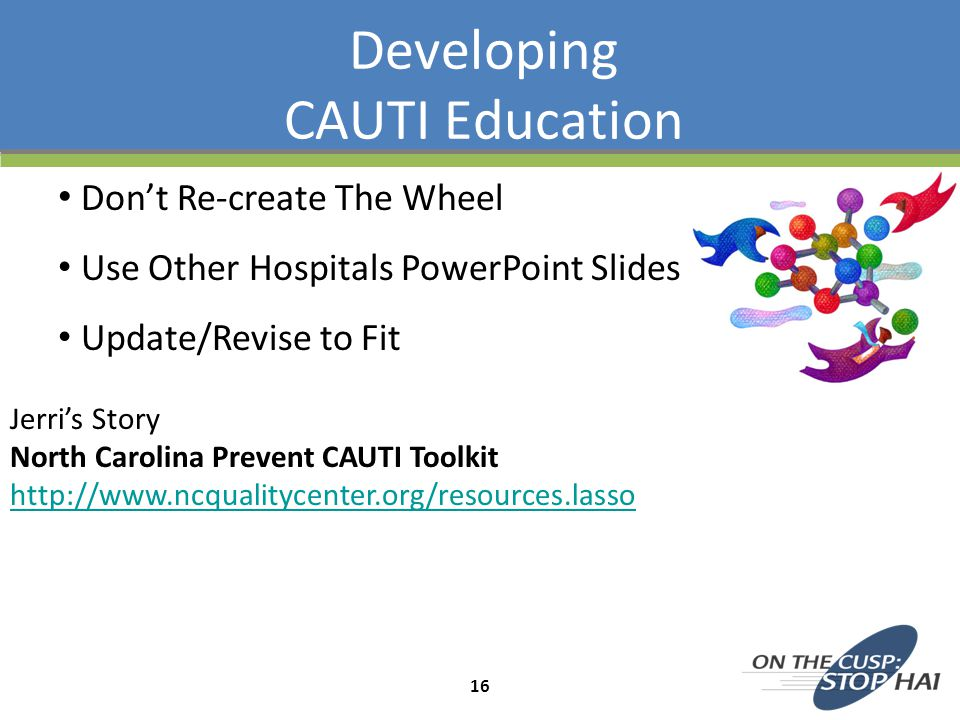 Developing CAUTI Education