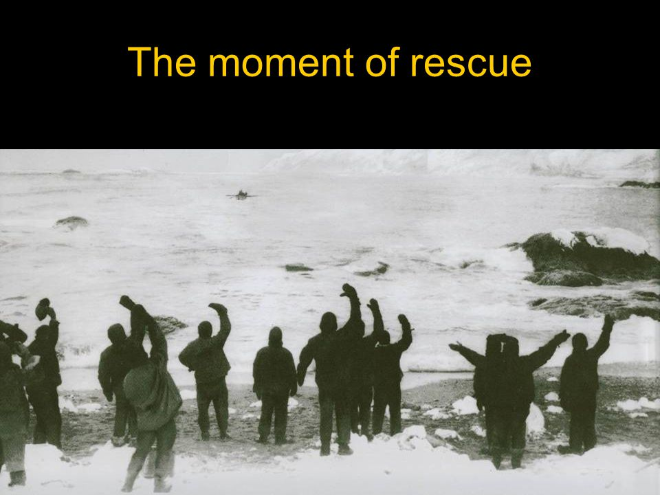 The moment of rescue
