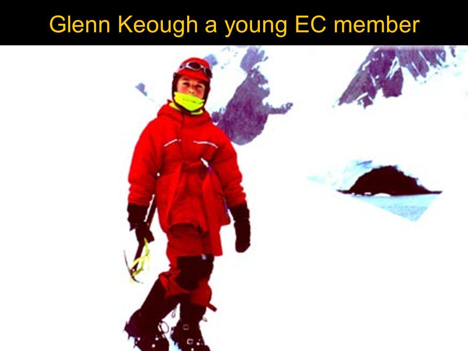 Glenn Keough a young EC member