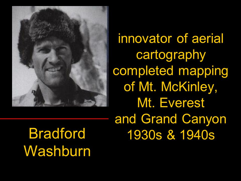 innovator of aerial cartography completed mapping of Mt. McKinley, Mt