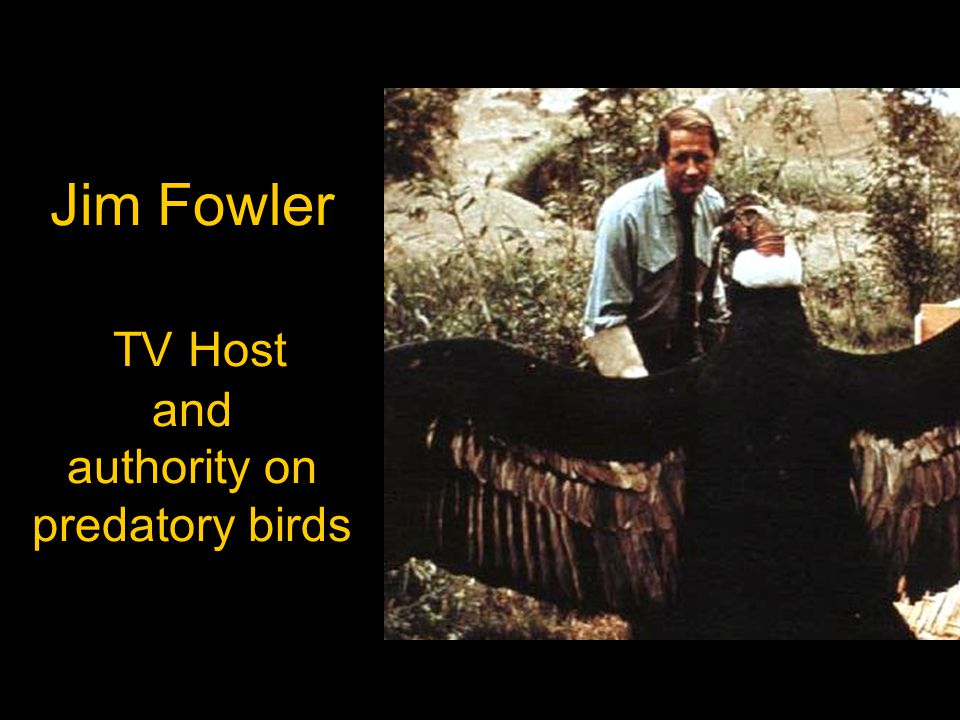 Jim Fowler TV Host and authority on predatory birds